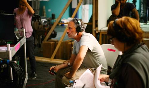 Jon Stewart on set