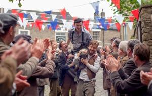 Gilbert Hankin (ANDREW GOWER), Gerrard Eyre (MATT STOKOE), Bert Middleton (TOM VAREY) - (C) Company Pictures - Photographer: Laurence Cendrowicz