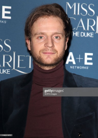 LONDON, UNITED KINGDOM - 2019/12/03: Andrew Gower attends the Miss Scarlet and the Duke World Premiere TV screening at the St. Pancras Renaissance Hotel in London. (Photo by Keith Mayhew/SOPA Images/LightRocket via Getty Images)